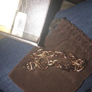MK rose gold chain bracelet